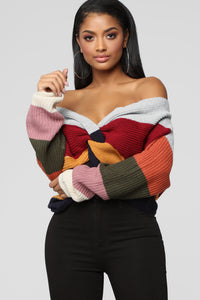 What You Want Sweater - MultiColor Angle 1