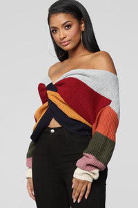 What You Want Sweater - MultiColor Angle 3