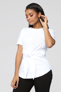 Can't Tie Me Down Tunic Top - Ivory Angle 1
