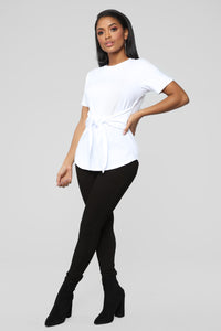 Can't Tie Me Down Tunic Top - Ivory Angle 4