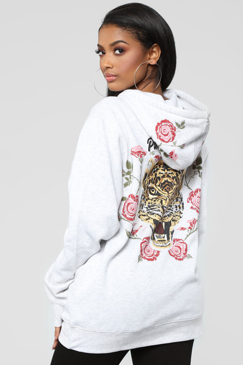 Tiger Tunic Sweatshirt - Oatmeal