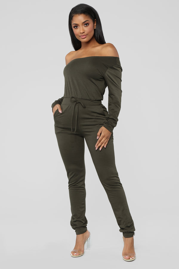 d82a86b7b3e4 Let s Stay In Lounge Jumpsuit - Olive