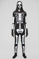 Skeleton Man Skin Suit Costume - Black/White