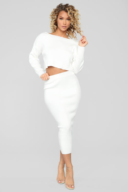 Another Night With You Skirt Set - Ivory