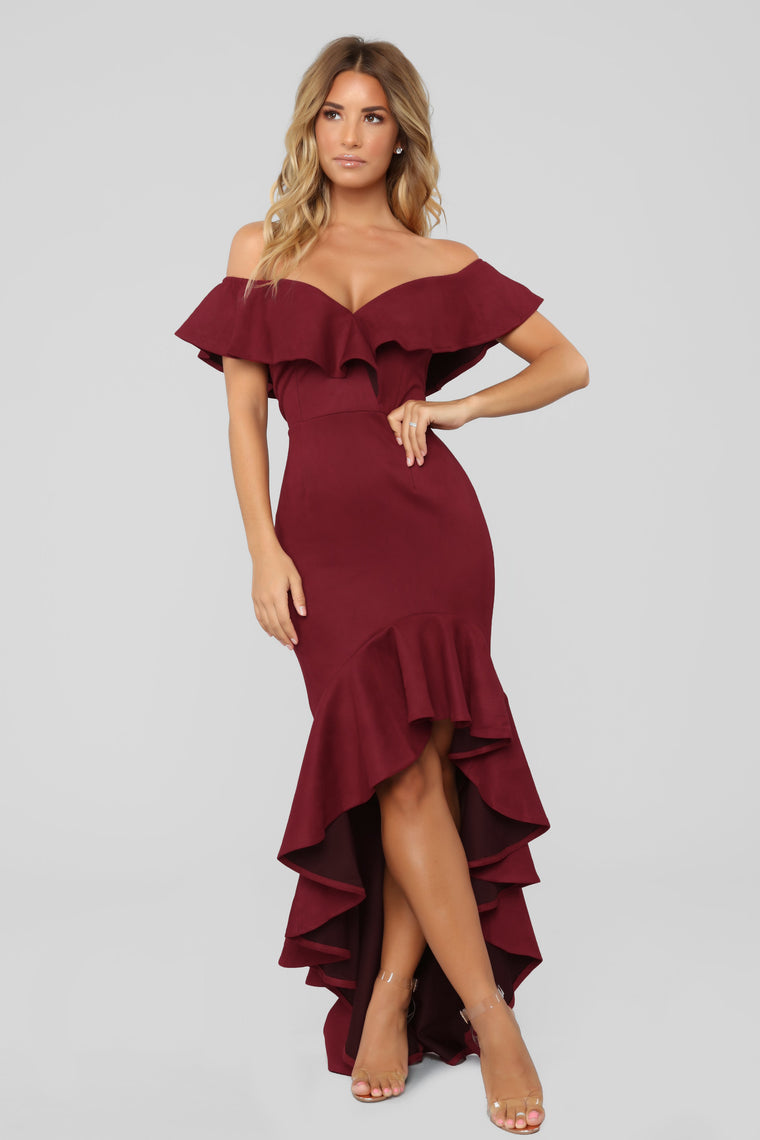 La Flamenca Dress - Wine