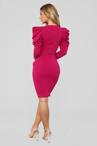 Show Me How To Love Dress - Magenta Angle 4