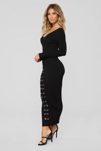Let You Be Right Dress - Black
