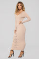 Let You Be Right Dress - Taupe
