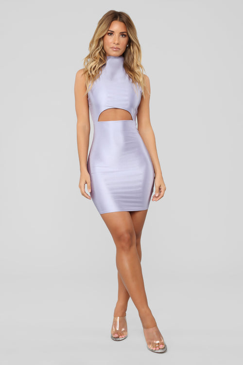 A Cut Above The Rest Mini Dress - Dusty Lavender