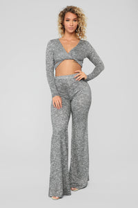 Listen To Your Heart Pant Set - Heather Grey Angle 1