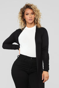 Back To You Cardigan - Black Angle 3