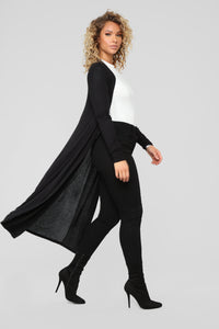 Back To You Cardigan - Black Angle 1