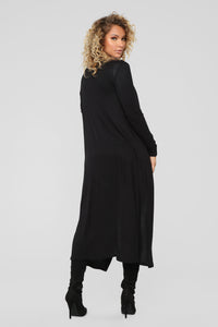 Back To You Cardigan - Black Angle 4