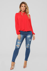 Without You Blouse - Red
