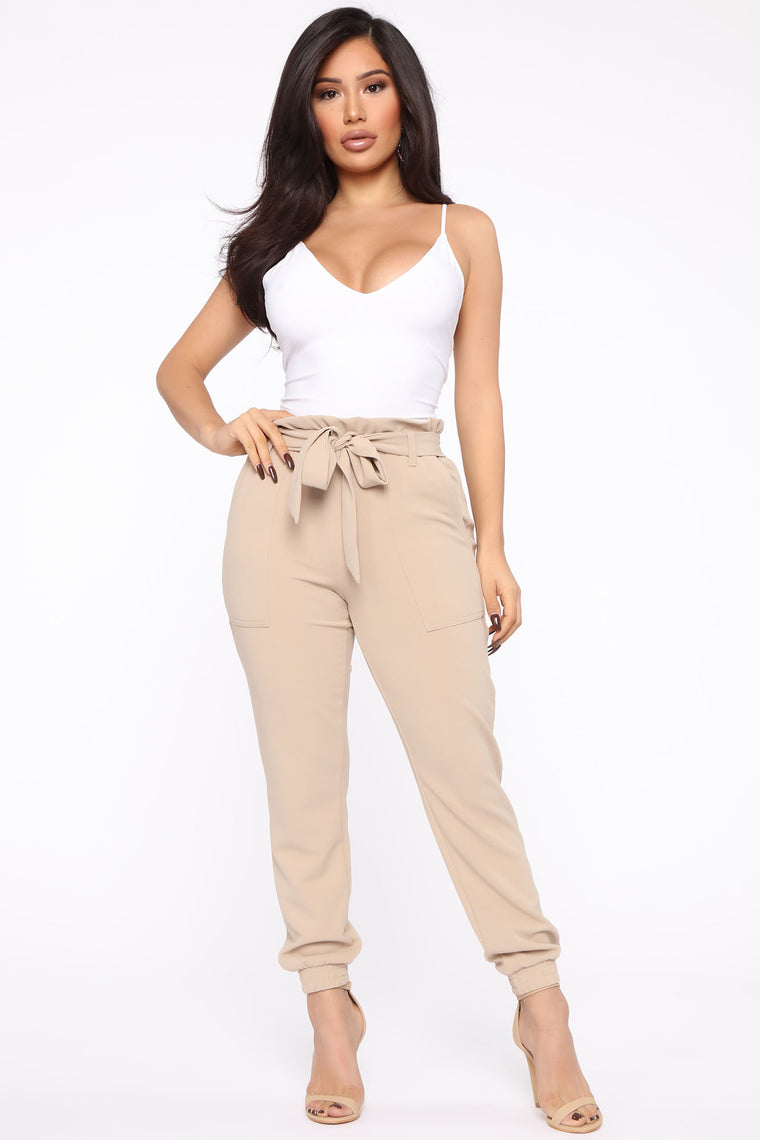 Keepin' It Up Pants - Taupe