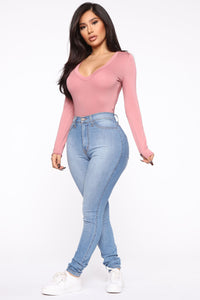 Voted Most Popular Bodysuit - Mauve