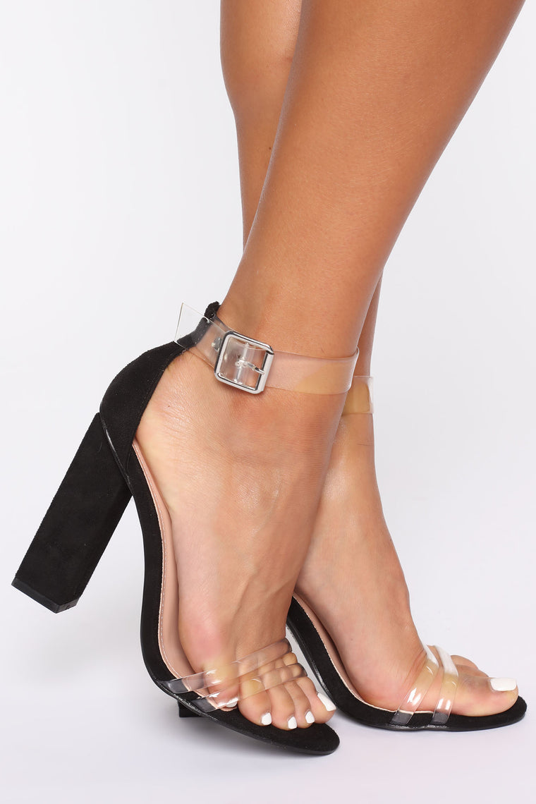 We Could Be Clear Heels - Black, Shoes