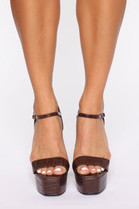 Walk Into This Heeled Sandals - Brown Angle 3