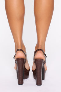 Walk Into This Heeled Sandals - Brown Angle 4