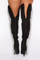 Homecoming Thigh High Boots - Black