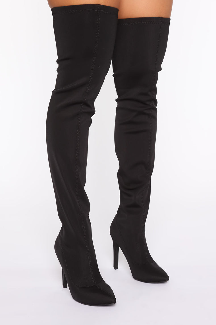 Addicted To You Heeled Boots - Black