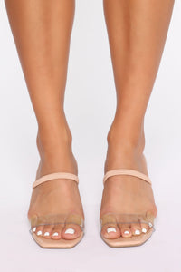 Cute Little Thing Heeled Sandals - Nude Angle 3