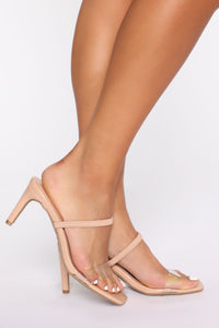 Cute Little Thing Heeled Sandals - Nude Angle 2