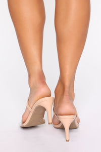 Cute Little Thing Heeled Sandals - Nude Angle 4