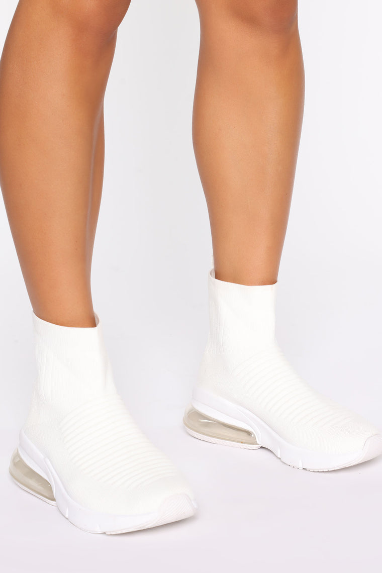 In The Crew Sock Sneaker - White, Shoes