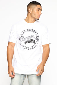 Low Rider Short Sleeve Tee - White/Black Angle 1