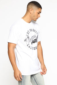 Low Rider Short Sleeve Tee - White/Black Angle 3
