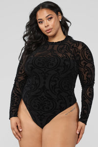 Don't Want Your Love Bodysuit - Black