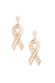 She's A Fighter Earrings - Gold/Clear