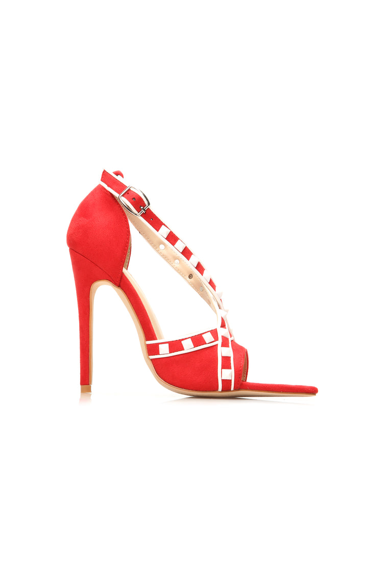 No Excuses Heeled Sandal - Red