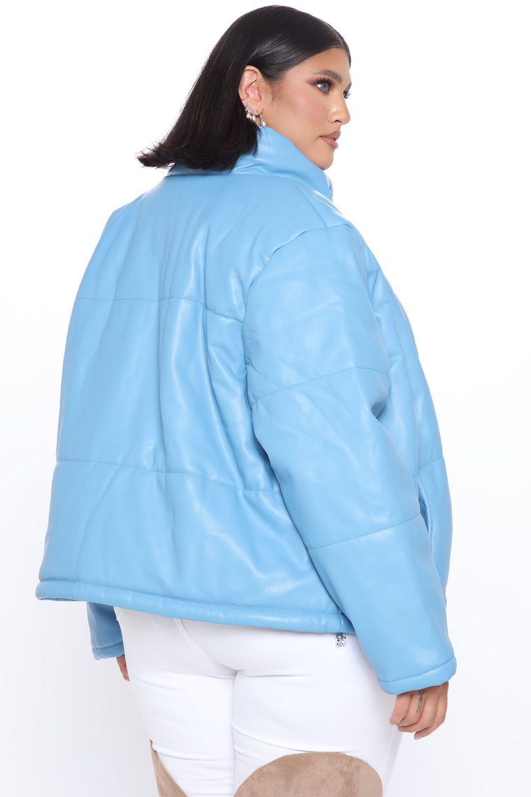 Top Search Puffer Jacket - Light Blue