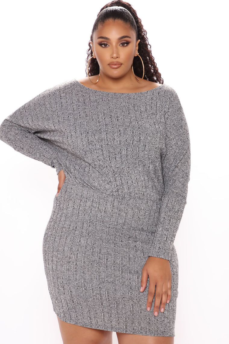 A Forever Thing Mini Dress - Charcoal