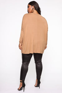 Stay Ready Dolman Sleeve Top - Camel