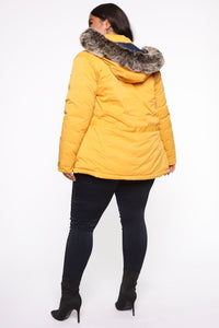 Winter Element Reversible Jacket - Mustard/combo