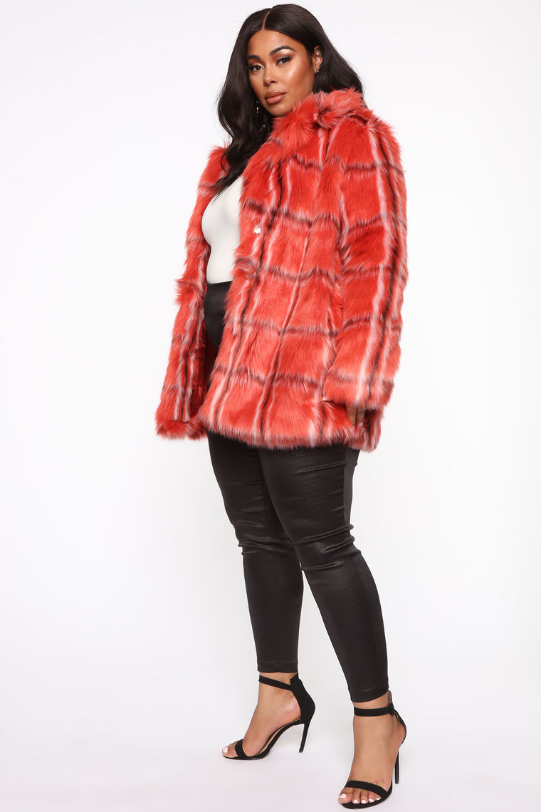 Can't Stop Won't Stop Fur Jacket - Red