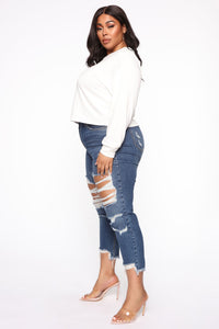 Sayonara Bitches Long Sleeve Top - White