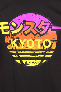 Kyoto Vibes Short Sleeve Tee - Black/Yellow