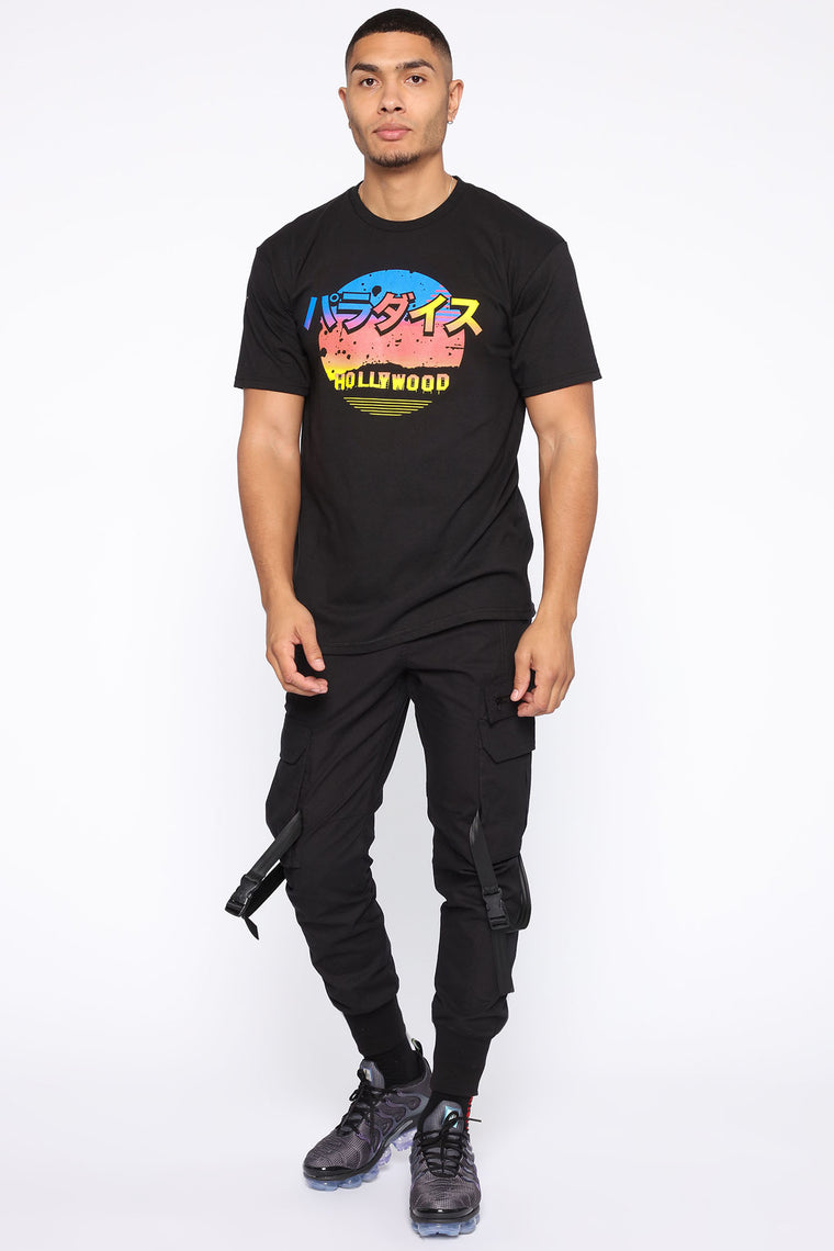 Hollywood Vibes Short Sleeve Tee - Black/combo