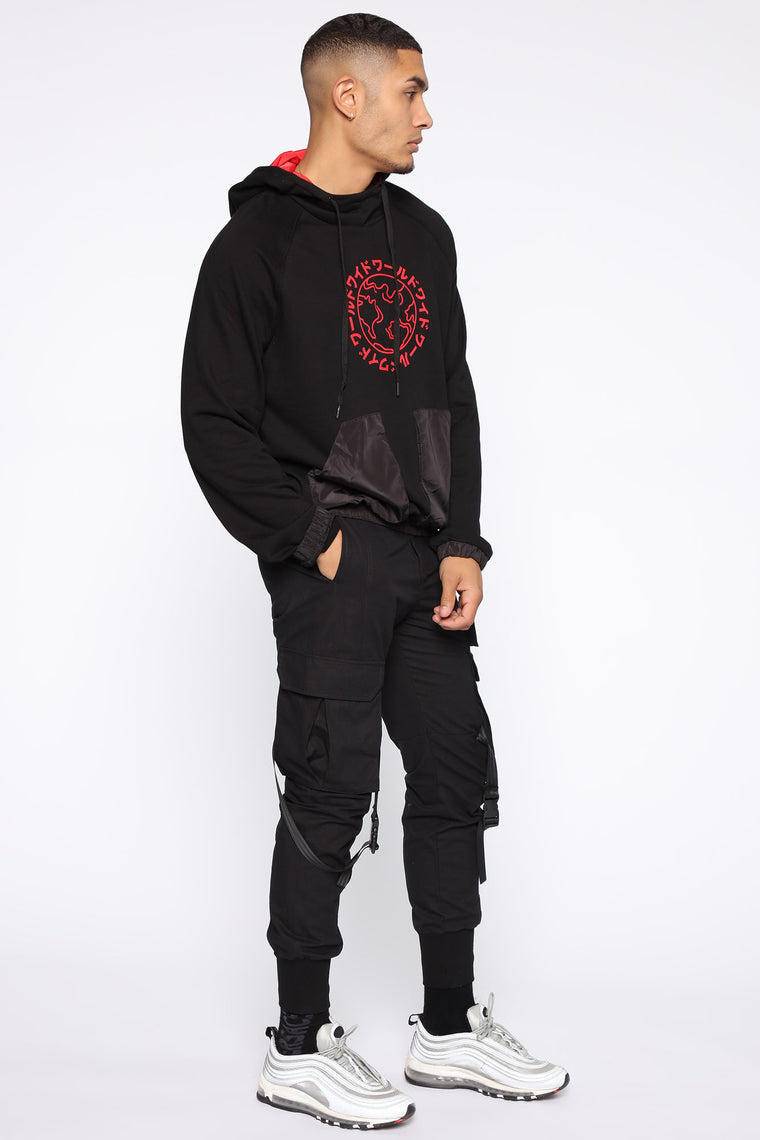 Coast To Coast Hoodie - Black/Red
