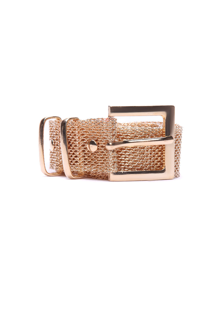 All Meshed Up Chain Belt - Gold