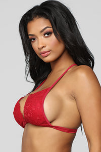 Lace Your Fears Bralette - Red