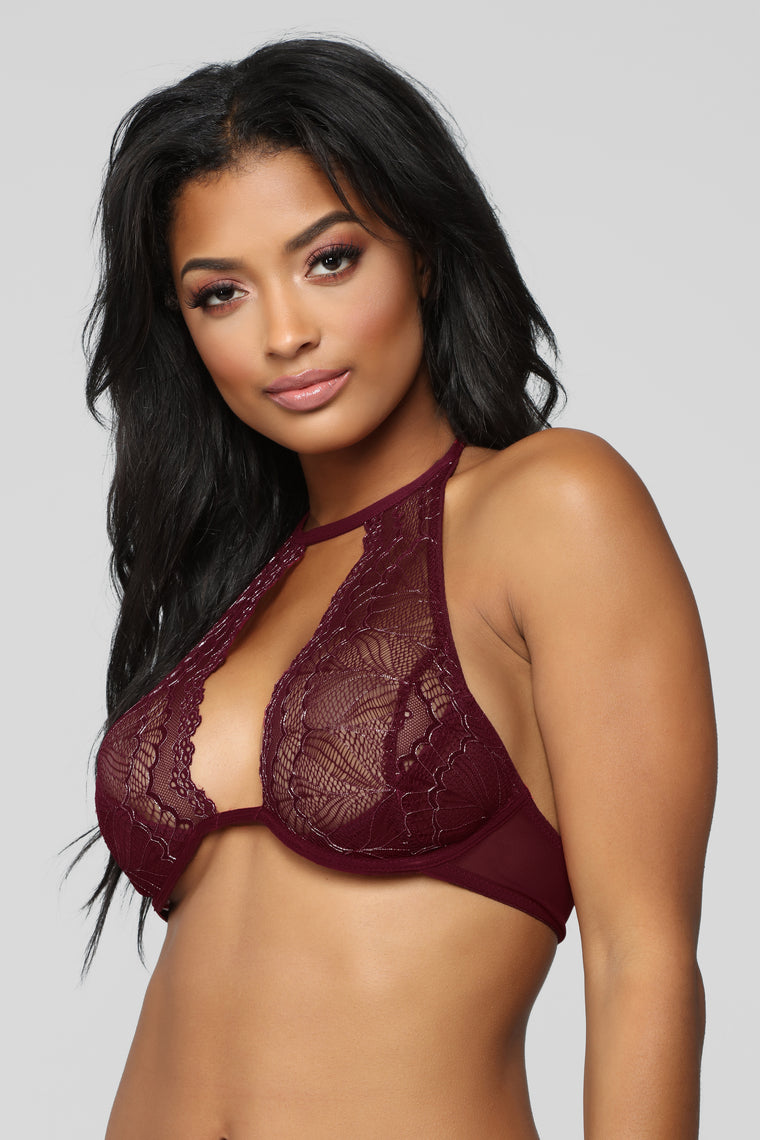 Intoxicating Matching Set - Burgundy