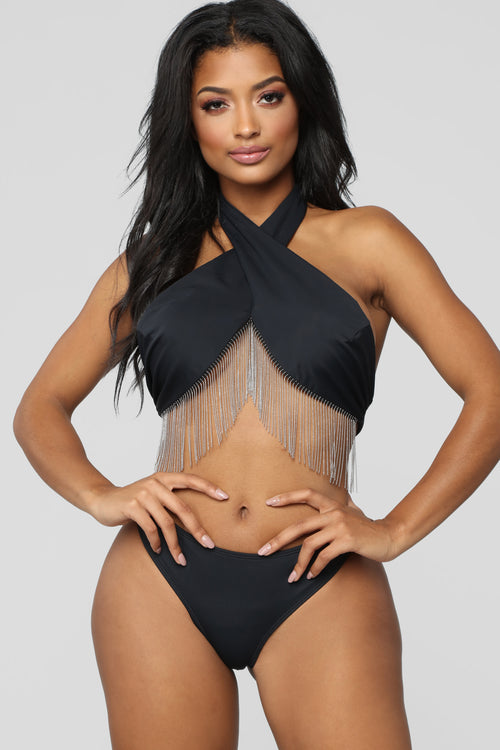 Deep Feelings Bikini - Black/Silver