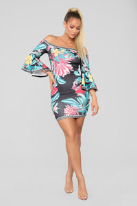 Be Your Paradise Dress - Black/combo