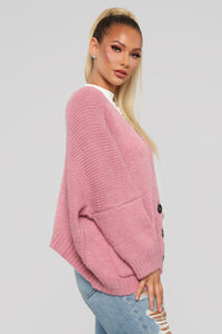In My Feelings Cardigan - Mauve