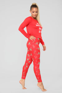All I Want PJ Set - Red